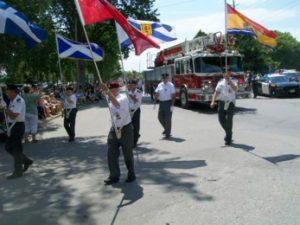 Bowmanville Legion Colour Party at Orillia 2018