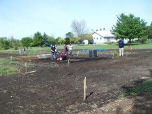 Bowmanville Community Garden - work underway on new plot